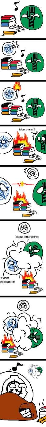 "Мои книги!!! Умри! Книгожгун! Умри! Аномалия! \ ""Ч1 л"