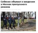 Собянин объявил о введении в Москве пропускного режима 19:5210.04.2020 (обновлено: 19:5810.04.2020) <5> 8417